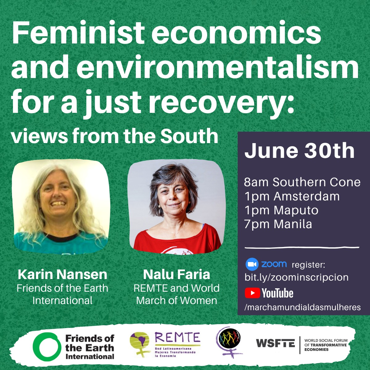 Feminist economy and environmentalism for a just recovery: views from the South