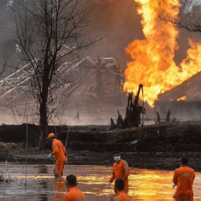 India: Ongoing repercussions and demands after massive fire in oil well