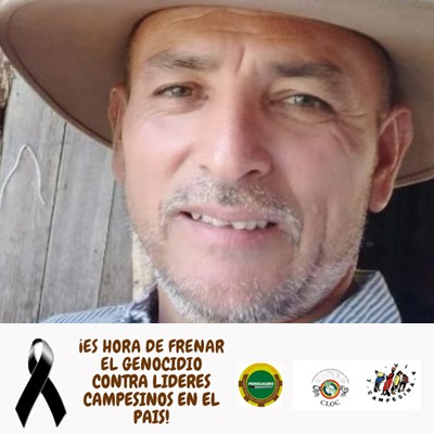 RELATIVES AND SOCIAL ORGANISATIONS DEMAND JUSTICE FOR COLOMBIAN PEASANT LEADER OMAR MORENO IBAGUÉ