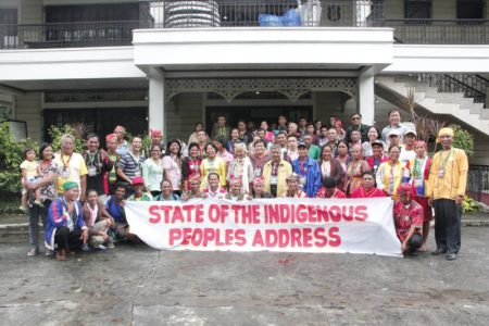 Indigenous communities who attended the State of the Indigenous Peoples Address meeting organised by LRCKSK (photo by LRCKSK)